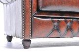 Chesterfield Zetel Original Leer | 2-zit | Antiek bruin | 12 jaar garantie_