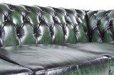 Chesterfield Zetel Original Leer | 3-zit | Antiek groen | 12 jaar garantie_