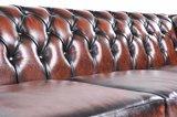 Chesterfield Zetel Original Leer   5-zit   Antiek bruin   12 jaar garantie_