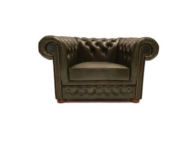 Chesterfield Fauteuil Class Leer | Cloudy Green | 5 jaar garantie