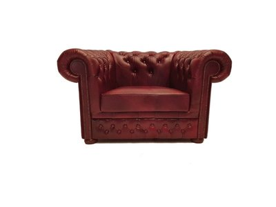 Chesterfield Fauteuil Class Leer   Cloudy Rood